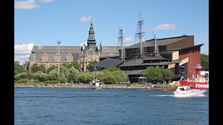 Nordiska museet och Vasamuseet sedda från Skeppsholmen.