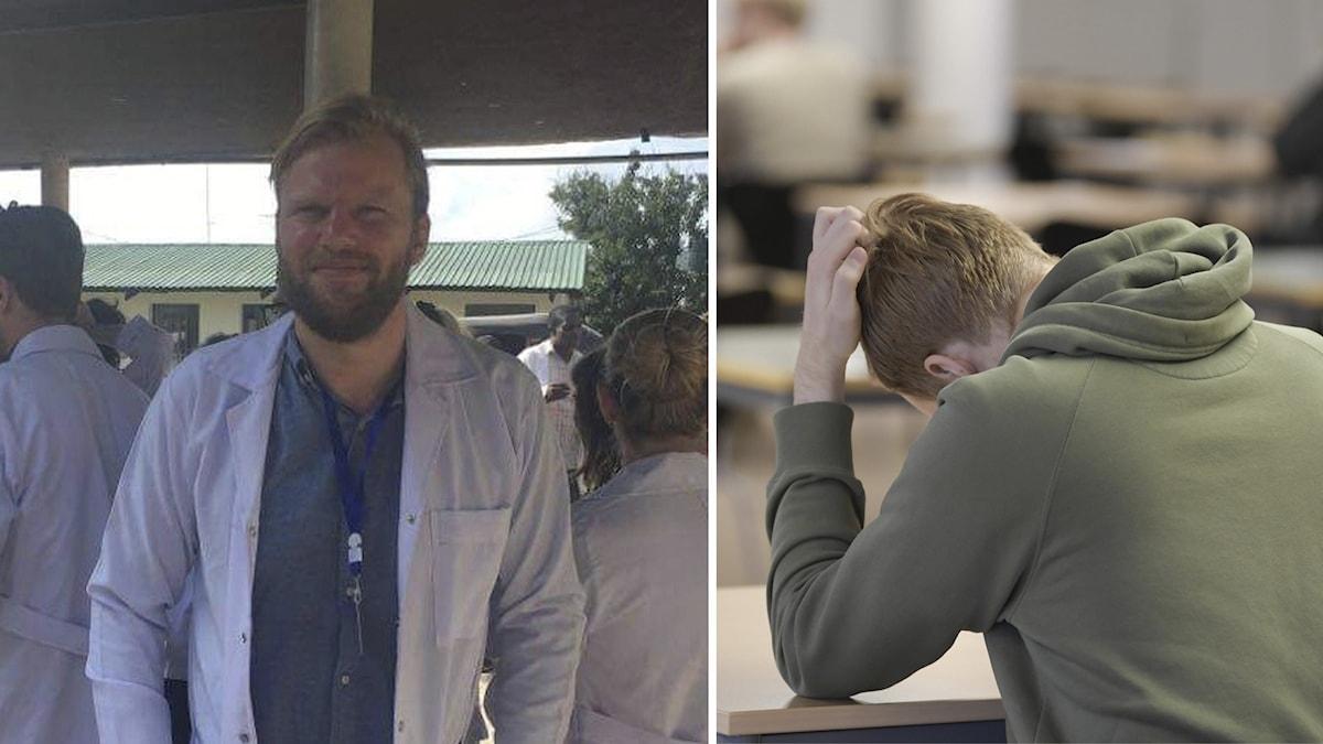 Läkarstudenten Ville Westman är orolig för smittorisken.