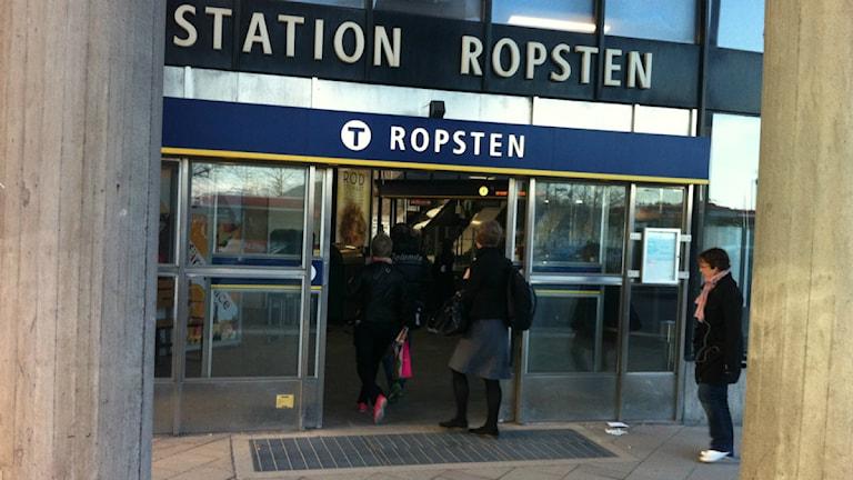 Ropstens tunnelbanestation (arkivbild). Foto: Anders Hildemar Ohlsson/ Sveriges Radio