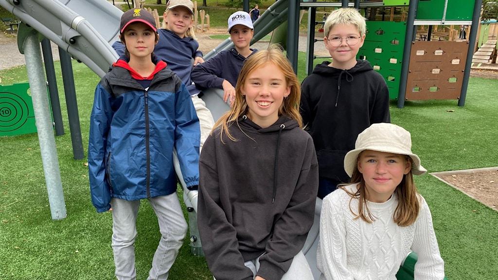 Barnen på Vaxö utformade egen lekpark.