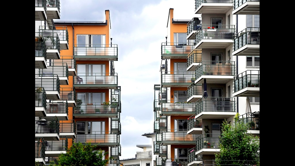 Lägenheter på Lilla Essingen i Stockholm. Foto: Tomas Oneborg / SvD / SCANPIX.
