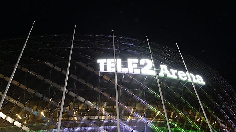 Tele 2 Arena under matchen mellan Hammarby och GAIS på torsdagen. Foto: Maja Suslin/TT.