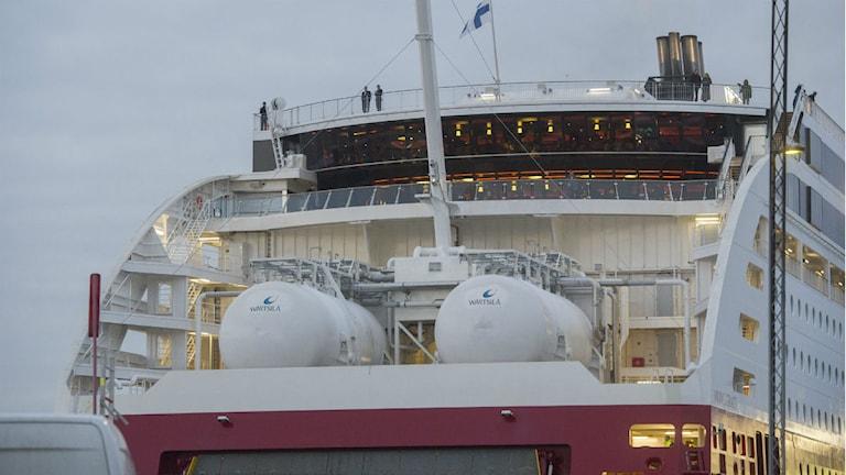 Kryssningsfartyget M/S Viking Grace, bilden är tagen vid ett annat tillfälle. Foto: Leif R Jansson/TT
