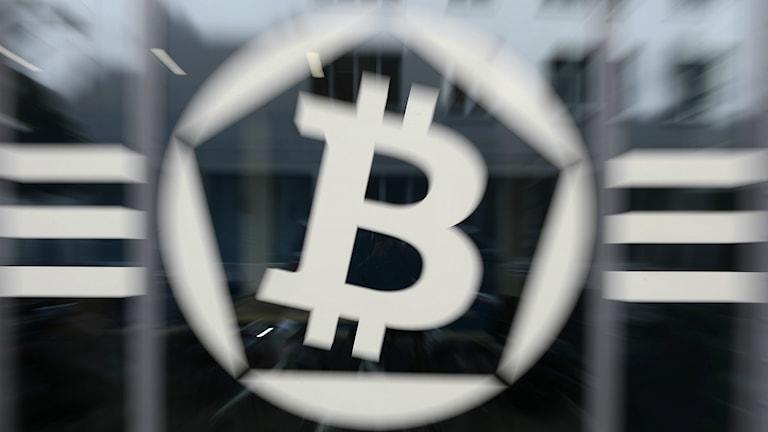 Den digitala valutan Bitcoin. Foto: STEPHANE DE SAKUTIN / AFP
