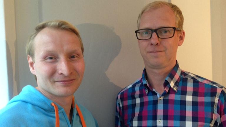 Pehr Granfalk (M) och Arne Öberg (S)