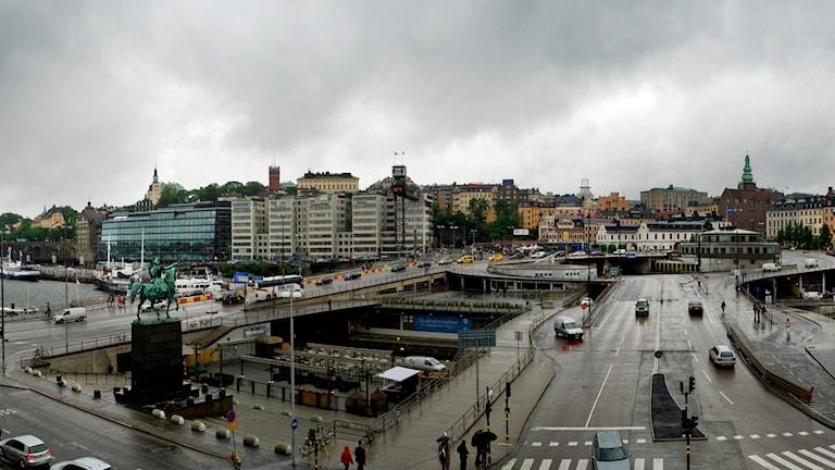 Slussen i Stockholm. Foto: Staffan Löwstedt /TT.