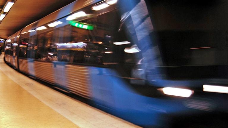 Tunnelbanetåg. Foto. Hasse Holmberg /TT.