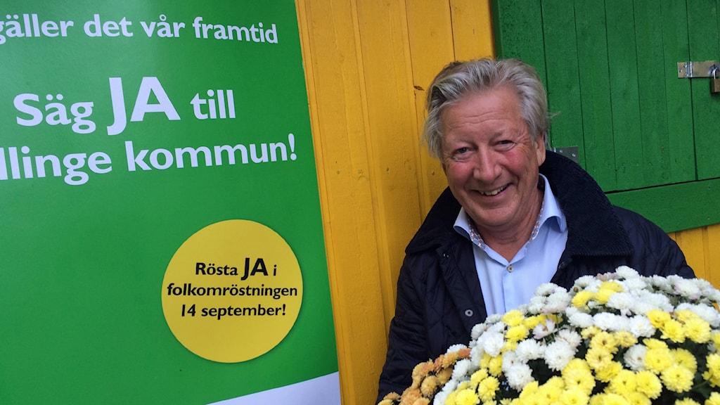 Anders Thorén gruppledare för Tullingepartiet. Foto: Anders Hildemar Ohlsson /Sveriges Radio.