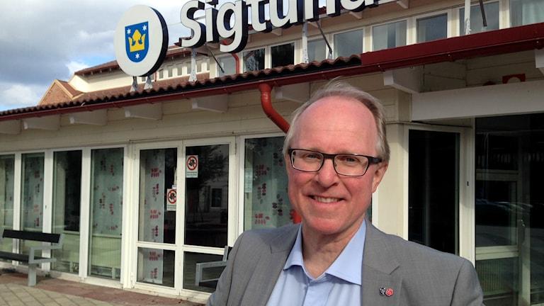 Socialdemokraternas ordförande i Sigtuna Lars Bryntesson. Foto: Johanna Sjöqvist/Sveriges radio
