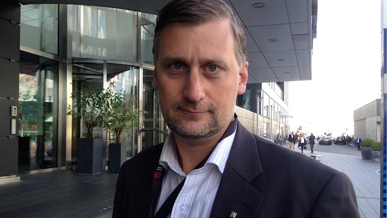 Daniel Dronjak Nordqvist (M) kommunalråd i Huddinge.