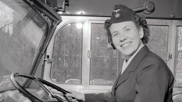 Margit Claesson, Stockholms första kvinnliga busschaufför