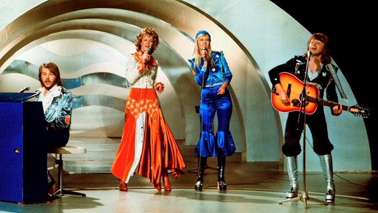 Swedish pop group Abba, winner of the Eurovision Song Contest 1974 with their song Waterloo. Arkivfoto: Olle Lindeborg /TT.