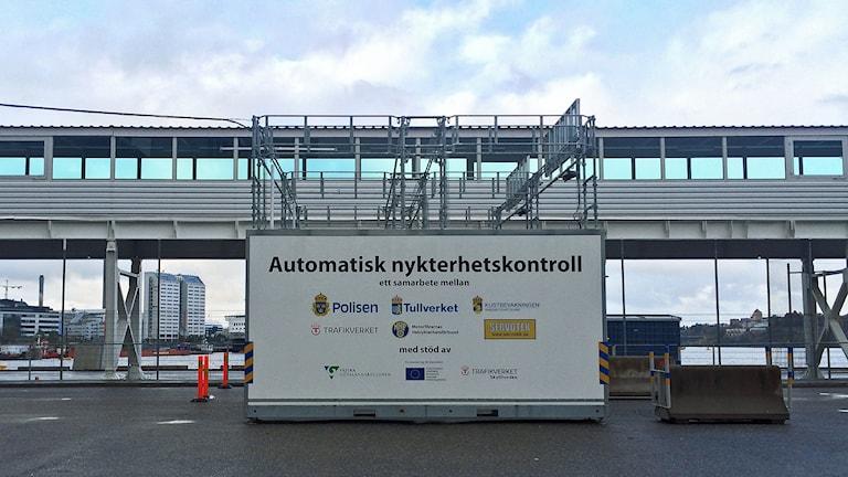 Alkobommar i Frihamnen. Foto: Julia Brynolfsson /Sveriges Radio.