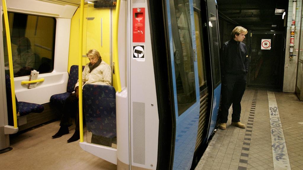 Stockholms tunnelbana. Foto: Jessica Gow /TT.