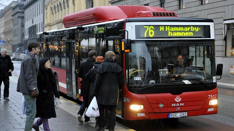 Sl buss. Foto: Hasse Holmberg/TT