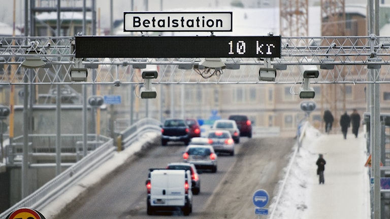 Trafik på Liljeholmsbron. Foto: Lars Pehrson / TT.