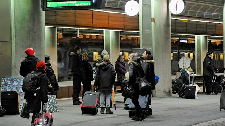 Tågstopp i Stockholm. Foto: Anders Wiklund / TT.