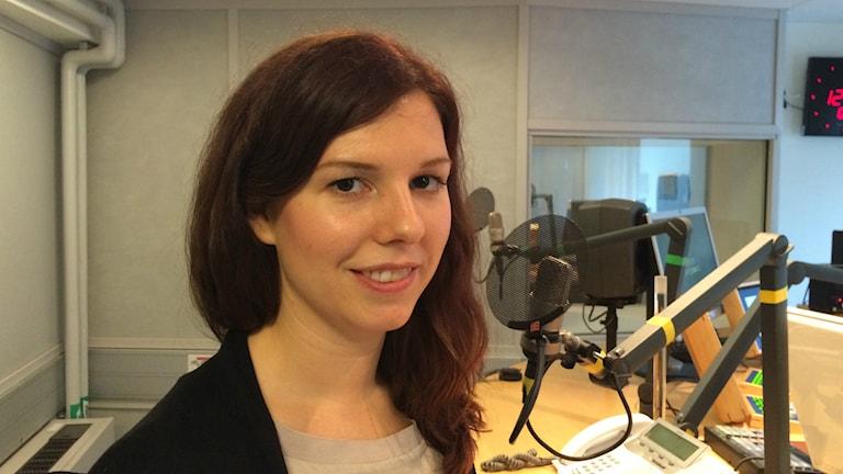 Emilia Bjuggren, arbetsmarknads- och idrottsborgarråd. Foto Maud Johansson, P4 Radio Stockholm