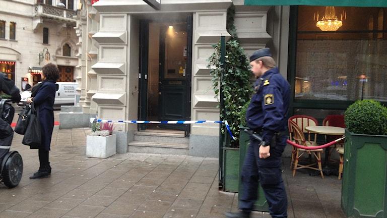 En juvelbutik på Östermalm rånades under fredagsmorgonen. Foto: Anders Hildemar Ohlsson/P4 Radio Stockholm