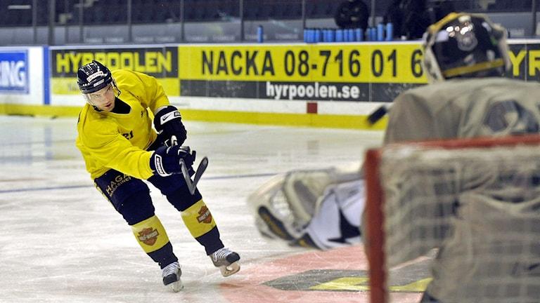 AIK hockey tränar på Hovet.