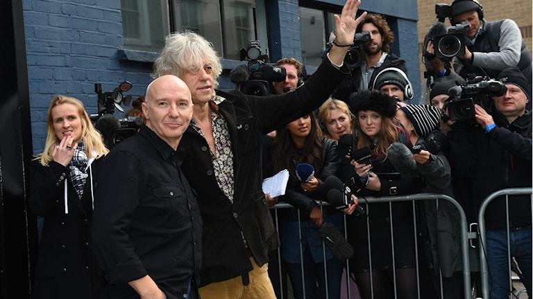 Band Aid 30. Midge Ure och Bob Geldof. Foto: TT Nyhetsbyrån