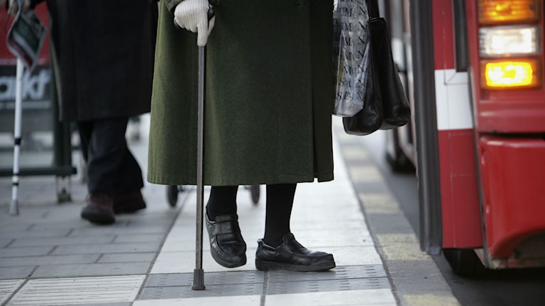 Äldre kvinna. Foto: Fredrik Sandberg/TT
