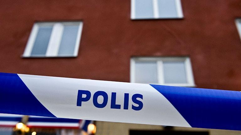Polisavspärrning. Foto: Patrik Lundahl/TT