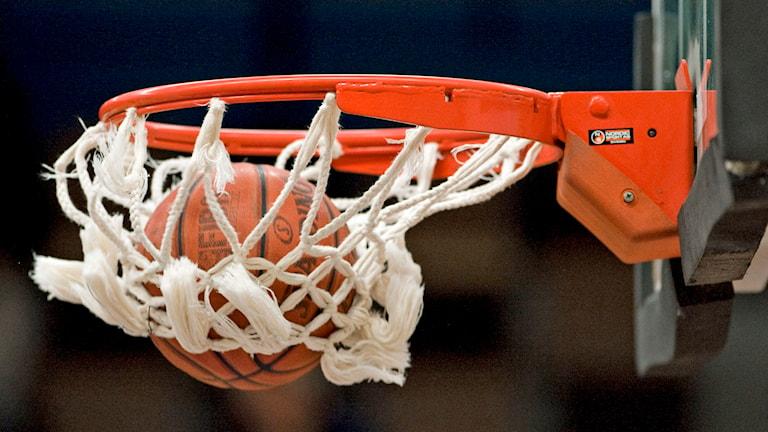 Basketmatch. Foto: Anders Wiklund /TT.