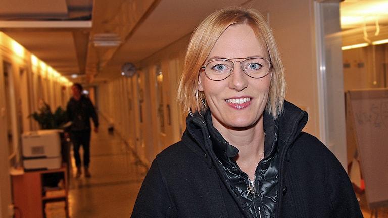 Erika Ullberg (S) oppositionslandstingsråd. Foto: Helen Ling /Sveriges Radio.