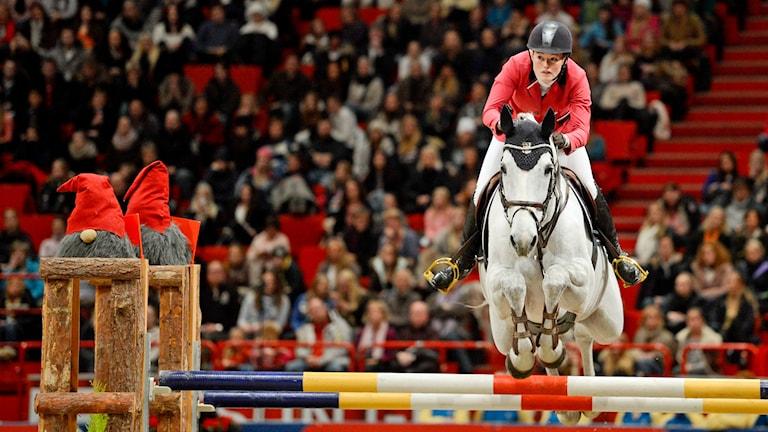 Emma Emanuelsson på hästen Titan på Stockholm International Horse Show i Globen 2012. Foto: Jessica Gow /TT.