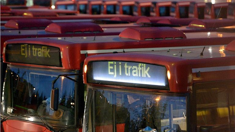 Arriva ska minska busstrafiken i norrort. Foto: Johan Nilsson / TT