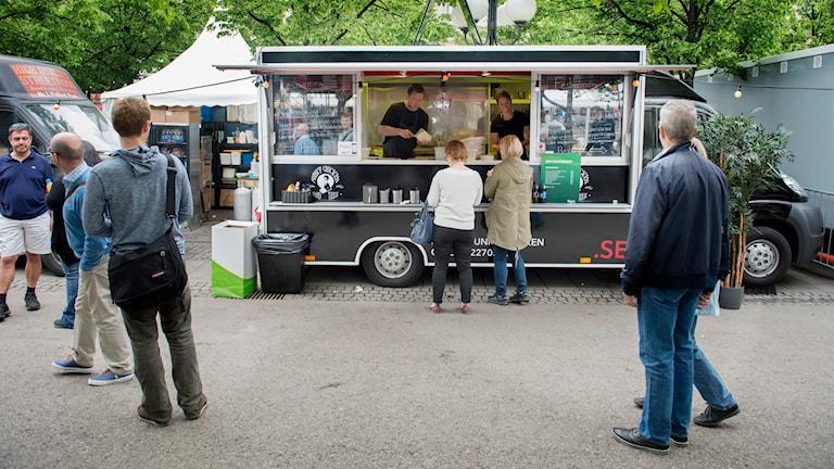 En Food Truck i Kungsträdgården. Foto: Jessica Gow/ TT