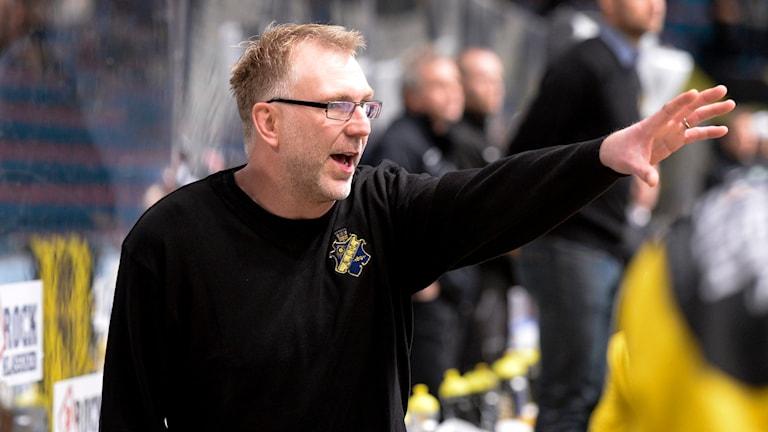 Peter Nordström, tränare i i AIK. Foto:  Bertil Ericson/TT