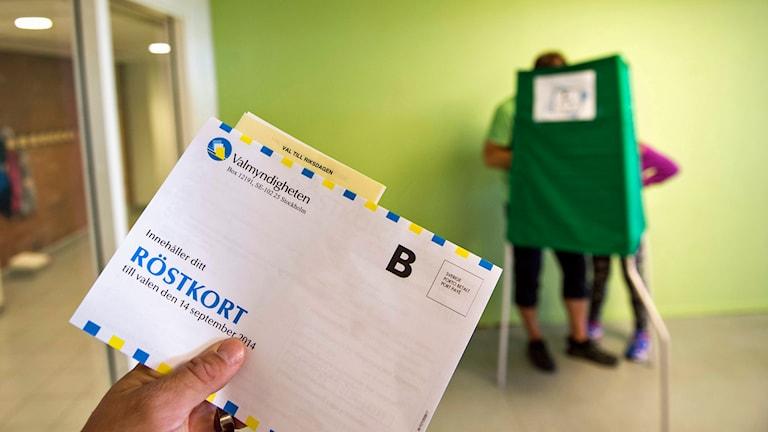 Röstkort i vallokal. Foto: Pontus Lundahl / TT.