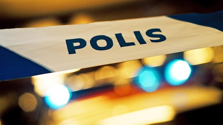 Polisavspärrning Foto: Marcus Lindblad / SVD / TT