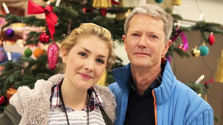 Jenny Eijdercrona och Leif Olsen. Foto: Helen Ling /Sveriges Radio.