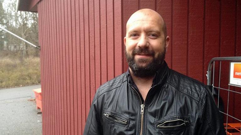 Nackalistans ordförande Mikael Carlsson. Foto: Ulf Bungerfeldt /Sveriges Radio.
