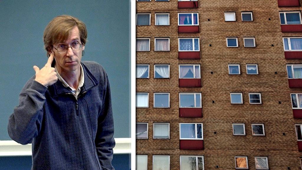 Professor Hans Lind efterlyser social housing i Sverige. Foto: Stian Lysberg Solum och Claudio Bresciani /TT