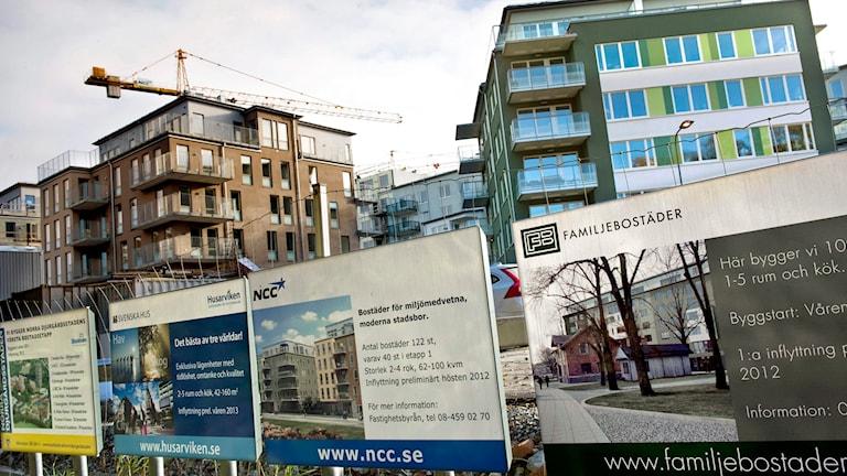 Exklusiva nyproduktioner vid Norra Djurgårdstaden. Foto: Claudio Bresciani /TT.