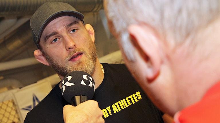"""Alexander """"The Mauler"""" Gustafsson, svensk MMA-utövare som tävlar i organisationen Ultimate Fighting Championship. Foto: Helen Ling /Sveriges Radio."""