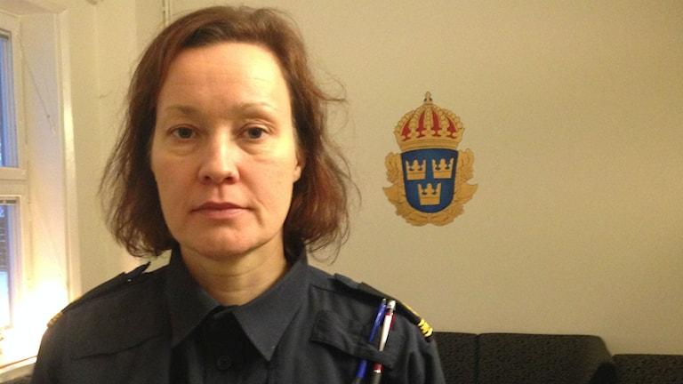 Anna Schelin hoppas att inbrotten kommer minska. Foto: Max Pröckl / Sveriges Radio