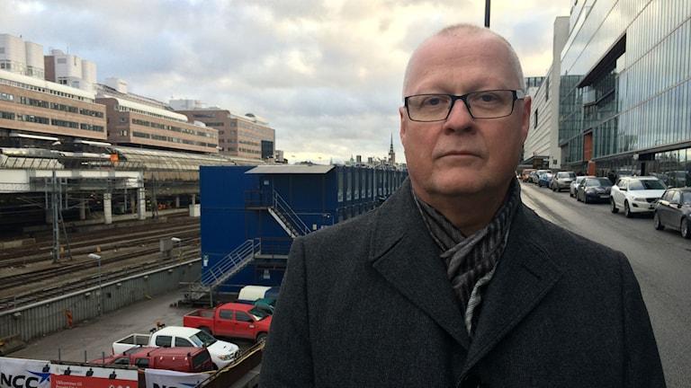 Stefan Björkqvist, säkerhetschef på trafikledningen vid Trafikverket. Foto: Julia Brynolfsson/Sveriges Radio