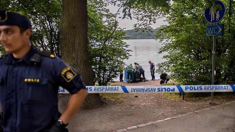 Kropp hittad vid Norr Mälarstrand. Foto: Maja Suslin / TT