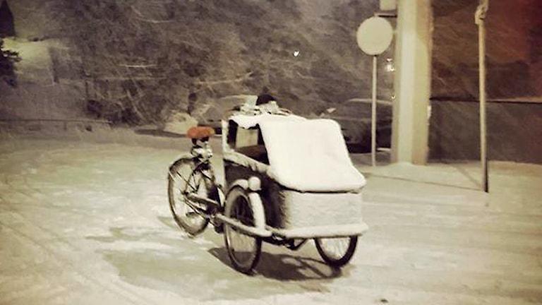 Cykel med tre hjul. Foto: Jeppe D Larsen.