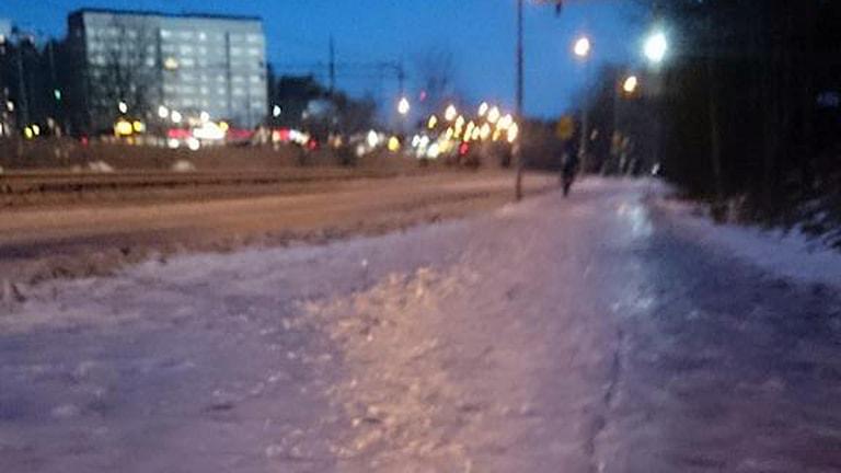 Kistastråket utmed Kolonnvägen i Solna. Lyssnarfoto: Mikael Ström.