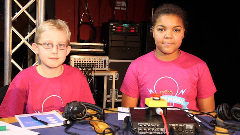 Pontus och Serina från Ängsnässkolan i Huddinge