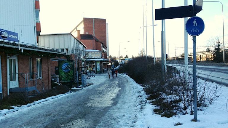 Gång- och cykelbanor i Huddinge. Foto: Sara Cosar/Sveriges Radio