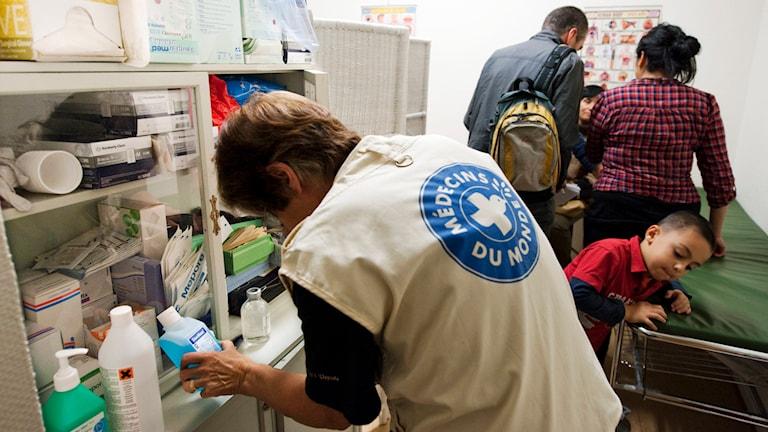 Klinik, som drivs av den internationella hjälporganisationen Läkare i världen, ger vård till papperslösa i Stockholm. Vården sker ideellt och ges till människor som inte har laglig rätt att vistas i landet. Foto: Henrik Montgomery /TT.