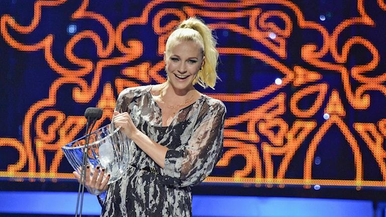Sarah Sjöström tar emot Jerringpriset på Idrottsgalan