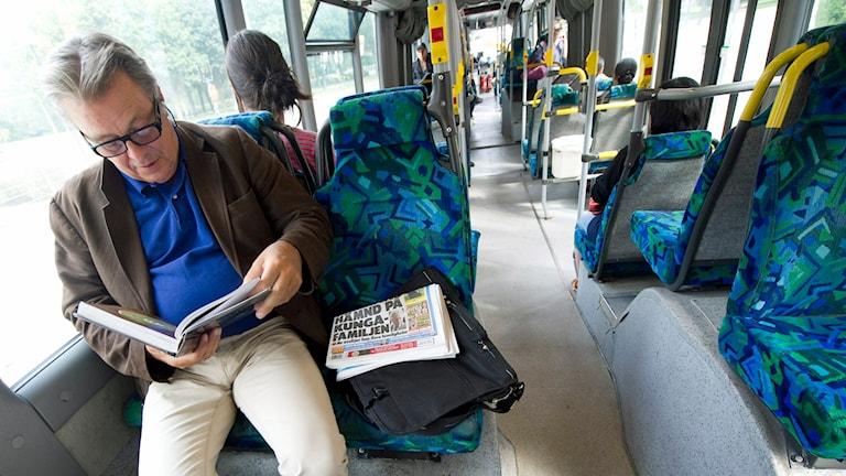 Smittorisk att åka buss. Foto: Fredrik Sandberg /TT.